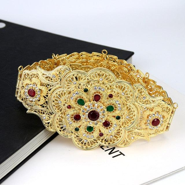 Flower Waist Crystal Belt
