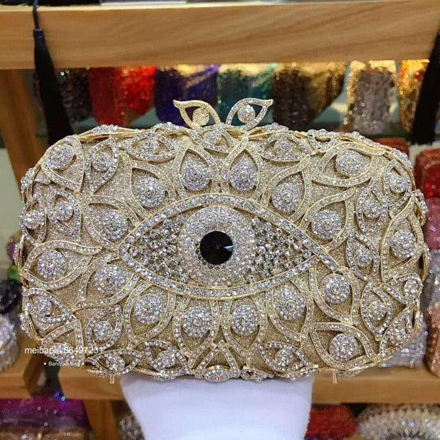 Bird Eye Crystal Evening Bag