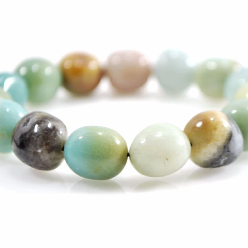 AAA Amazon Amazonite Irregular Shape Gemstone Bracelets - Handmade