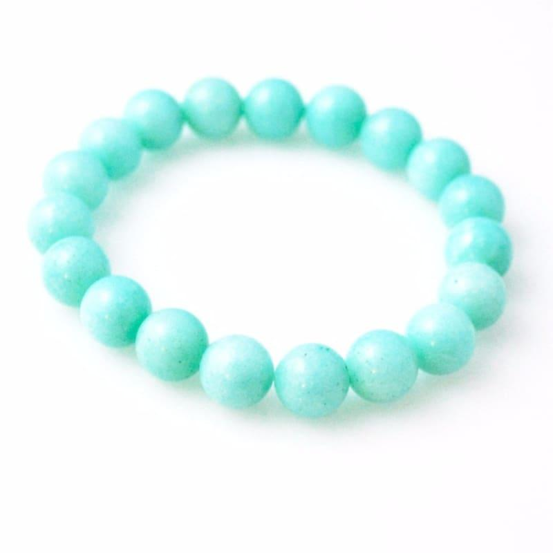 Amazonite Gemstone Stretch Bracelets - TeresaCollections