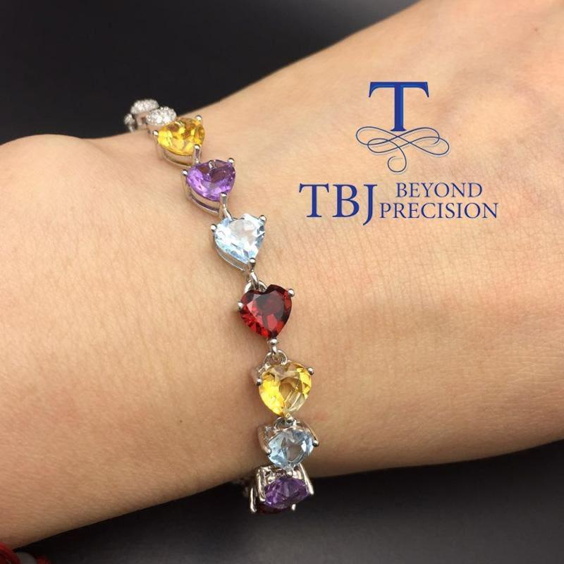Beautiful and Colorful 925 Gemstones Bracelet - Bracelets