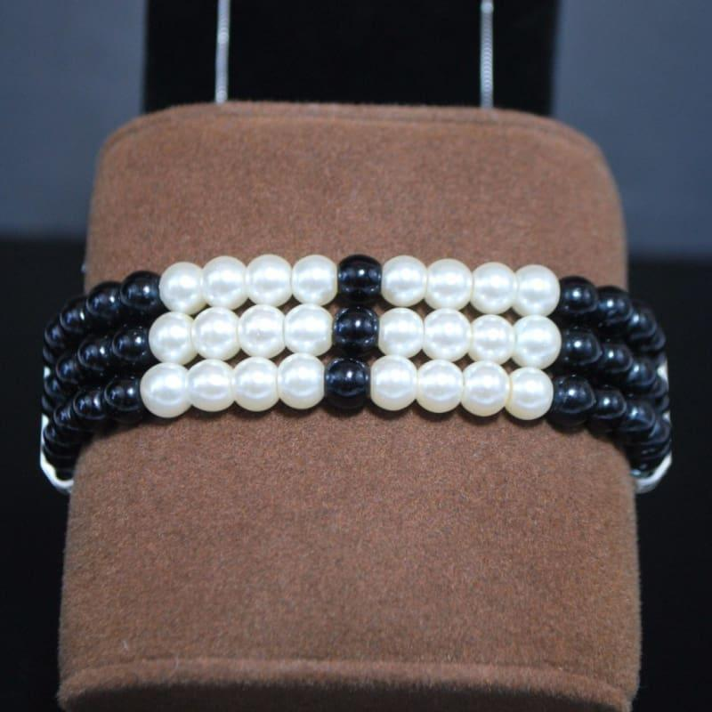 Black and White Colorblock Bracelets - TeresaCollections