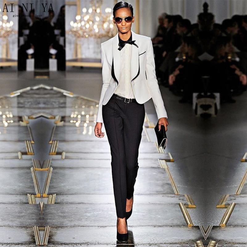 teresacollections black white women tuxedo jackets trouser suits black white women tuxedo jackets trouser suits