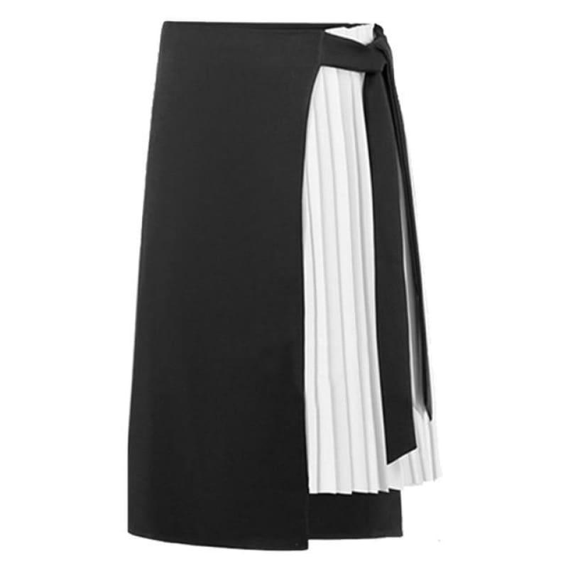 Chiffon Asymmetry High Waist Polyester Streetwear Midi Skirts - TeresaCollections
