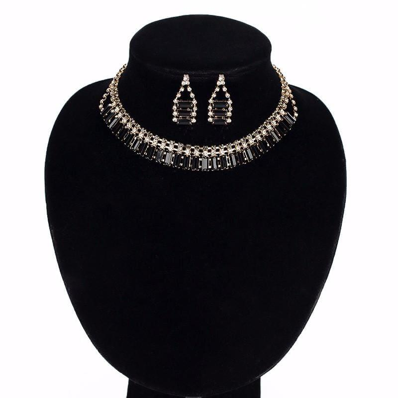 Chunky Chain Statement Choker With Earrings