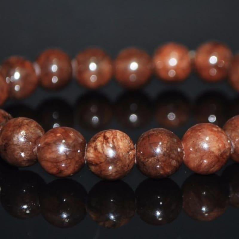 Coffee Brown Jade Bracelets - Handmade