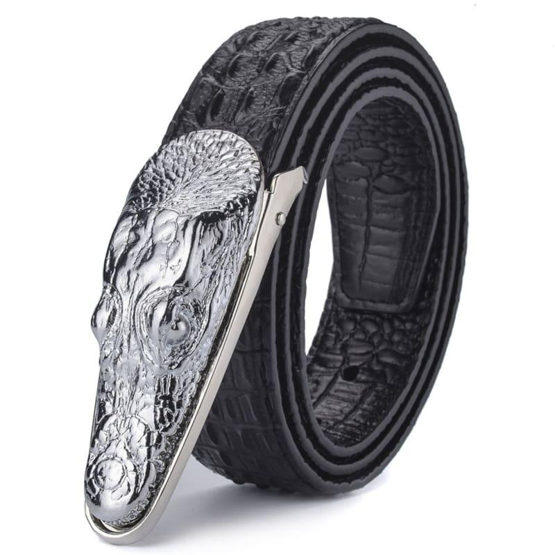 Crocodile Head Gold Silver Bronze Metal Buckle High Quality Belts - belts