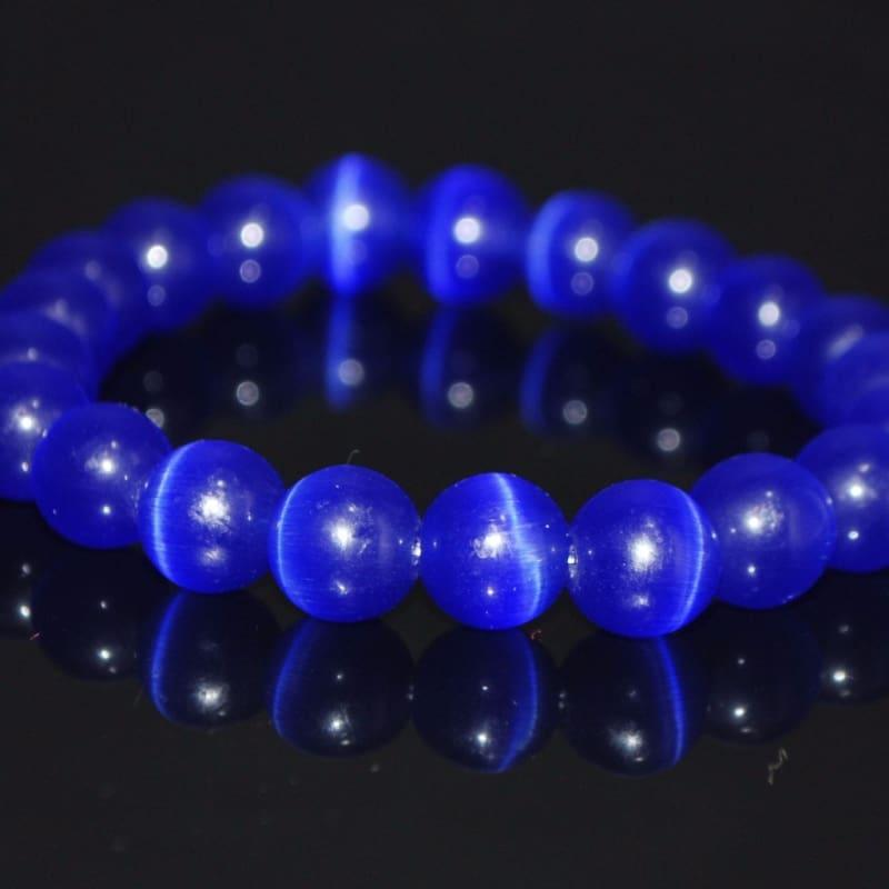 Dark Blue Mexican Opal Tiger Eye Gemstone Men / Women's Bracelets - TeresaCollections