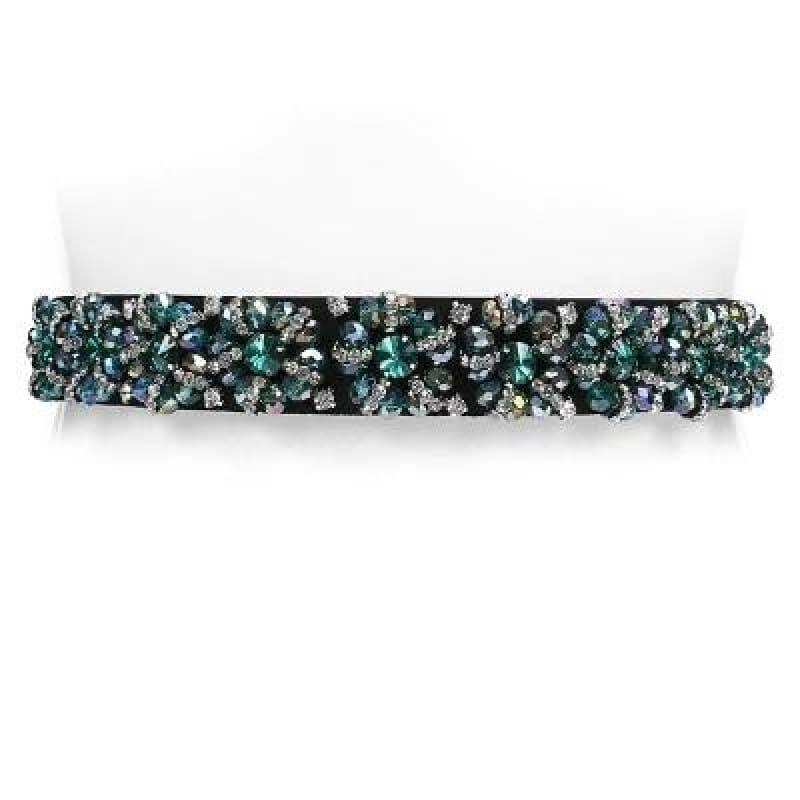 Designer Luxury Crystal Elastic with rhinestone Elegant Belt - c4 / 65cm - Belt