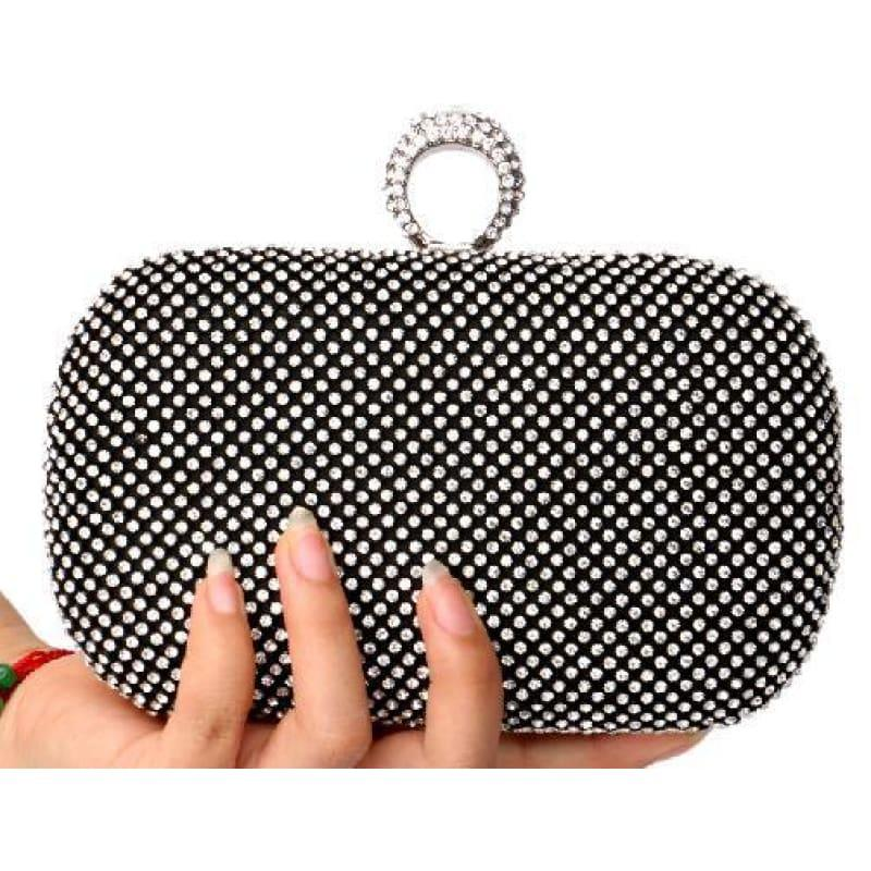 Diamond-Studded Evening Clutch Bag - TeresaCollections