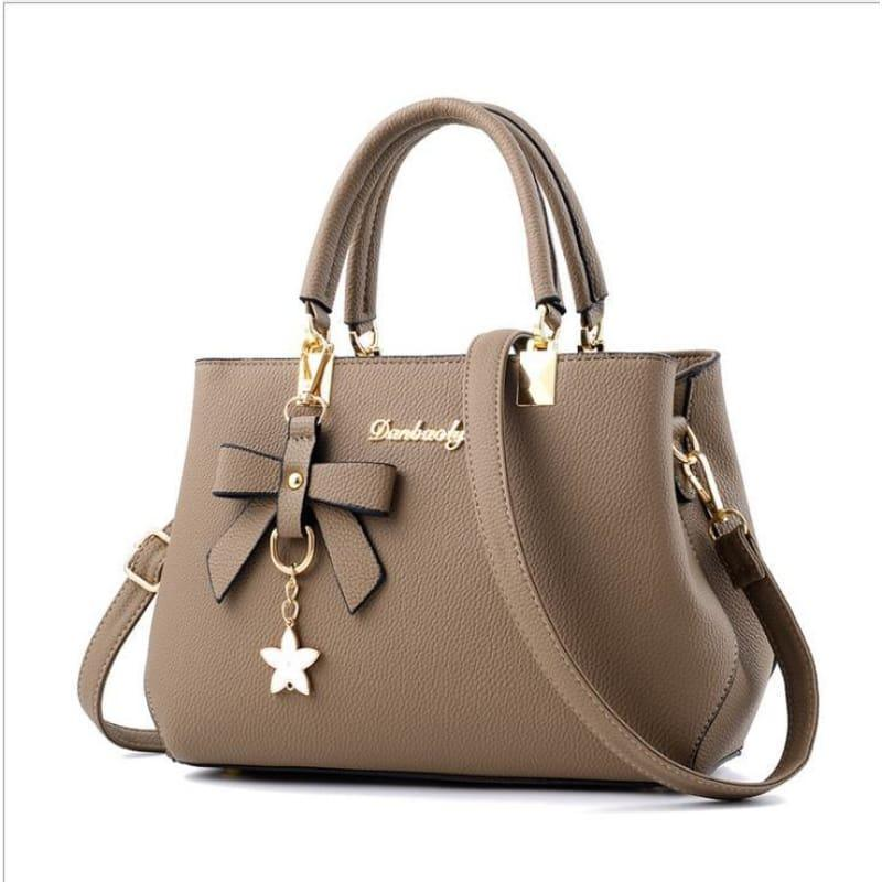 Elegant Shoulder Bag Women Designer Luxury HandBag - khaki - HandBag