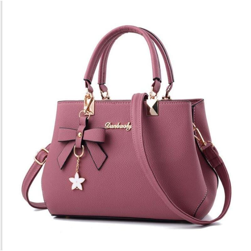 Elegant Shoulder Bag Women Designer Luxury HandBag - pink - HandBag