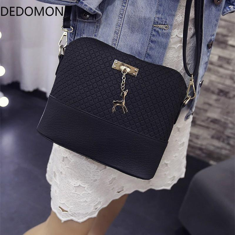 Fashion Mini Bag With Deer Toy Shell Shape Small Messenger Crossbody HandBag - TeresaCollections