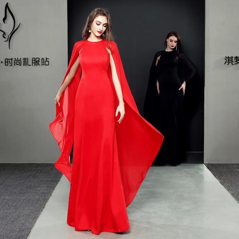 Formal Cheongsam Sexy Long Qipao Evening Dress - red / S - Gown