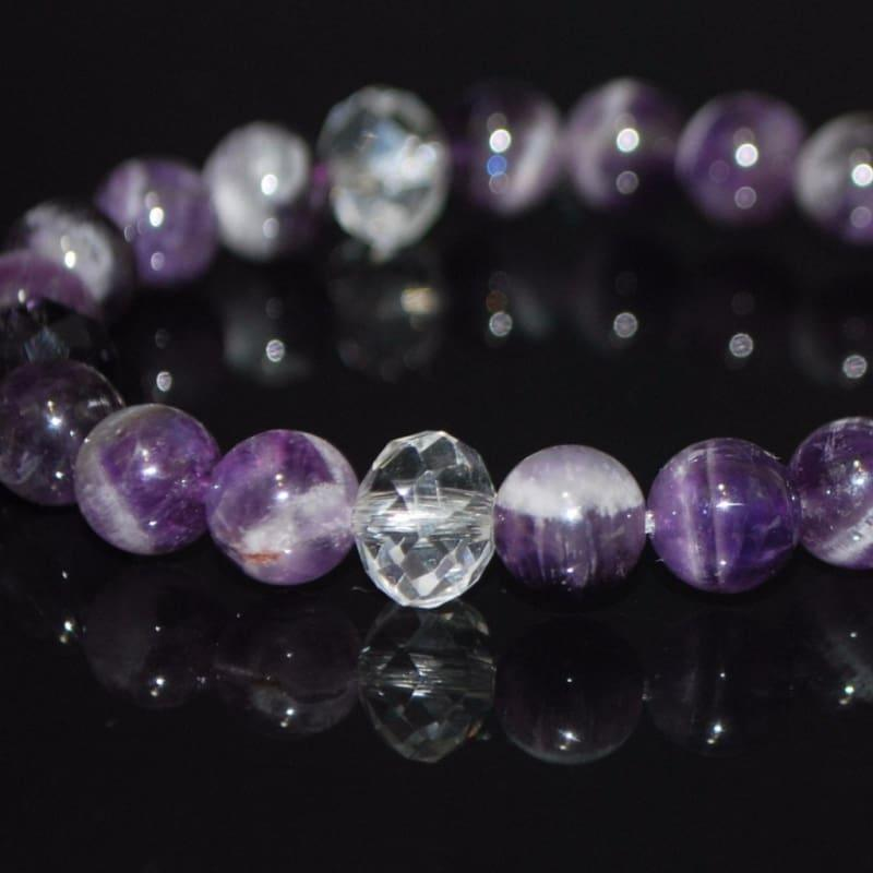 Genuine Amethyst Gemstone Beaded Women's Bracelets - TeresaCollections