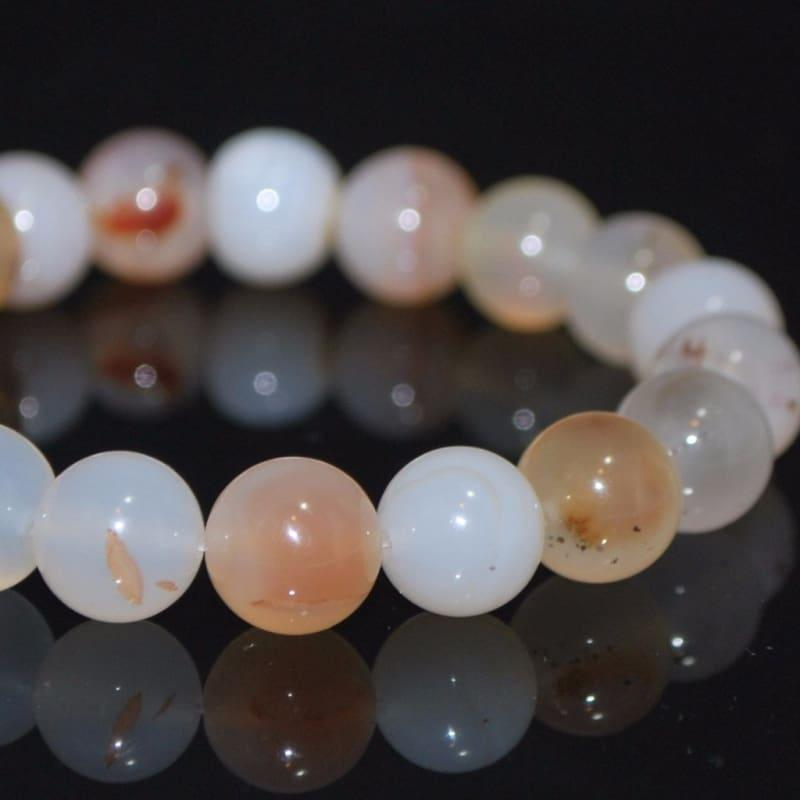 Genuine Natural Agate Gemstone Mens / Women Bracelets - Handmade
