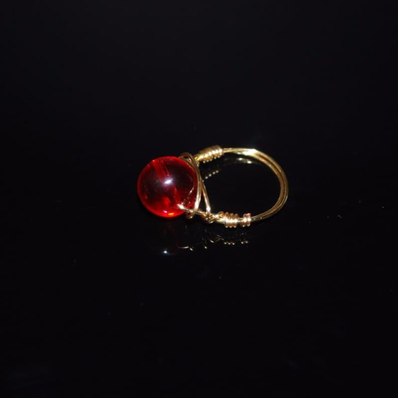 Genuine Quartz Stone womens ring - Handmade