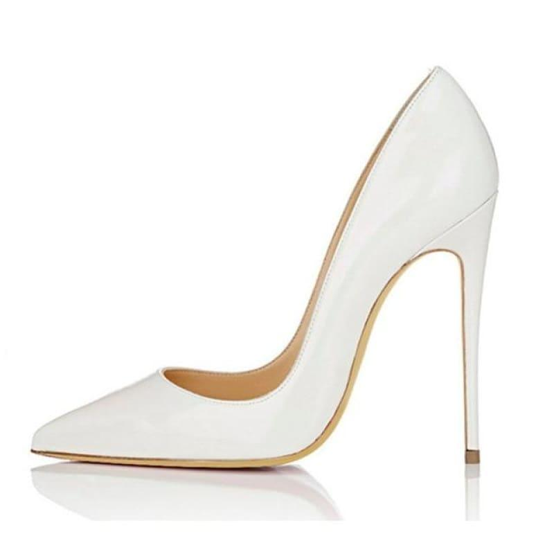 High Heels Woman Slip-on Patent Pumps - AS SHOWN 14 / 42 - Pumps
