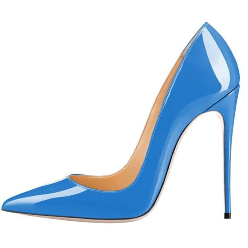 High Heels Woman Slip-on Patent Pumps - AS SHOWN 3 / 42 - Pumps