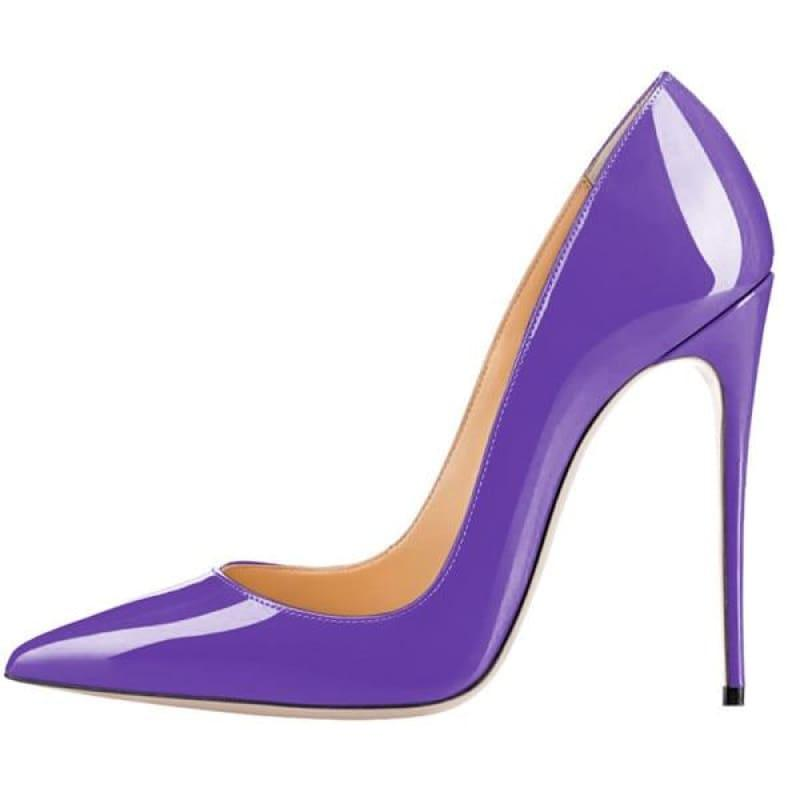 High Heels Woman Slip-on Patent Pumps - AS SHOWN / 42 - Pumps