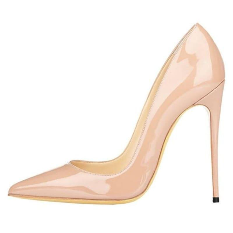 High Heels Woman Slip-on Patent Pumps - AS SHOWN 6 / 42 - Pumps