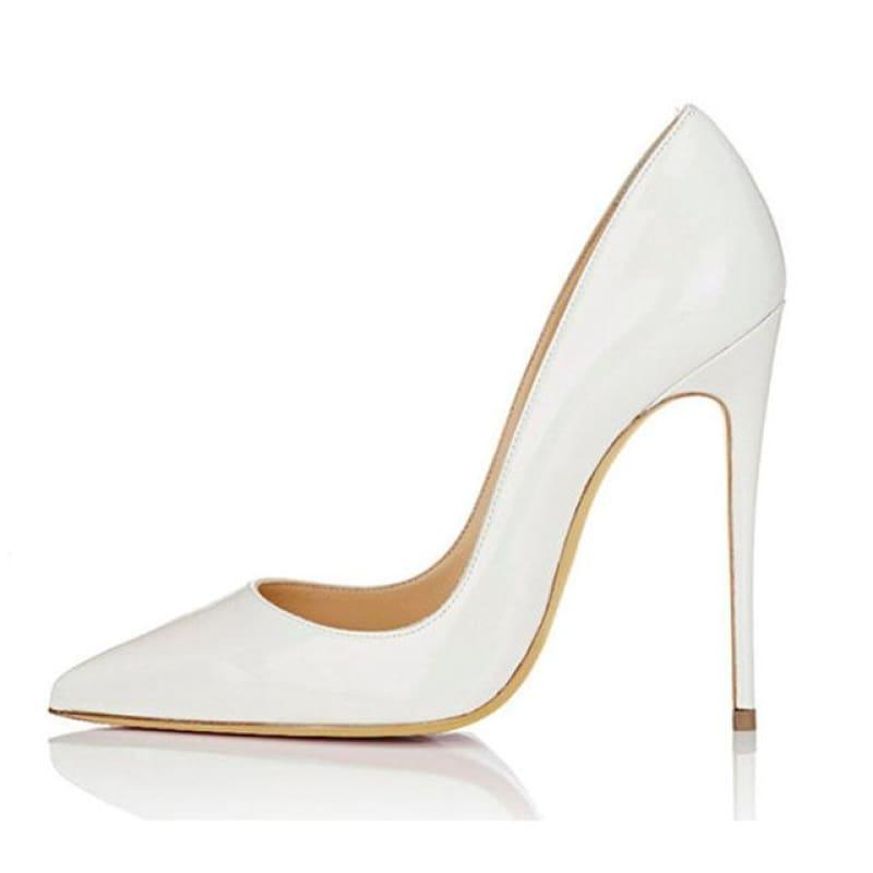 High Heels Woman Slip-on Patent Pumps - AS SHOWN 7 / 42 - Pumps