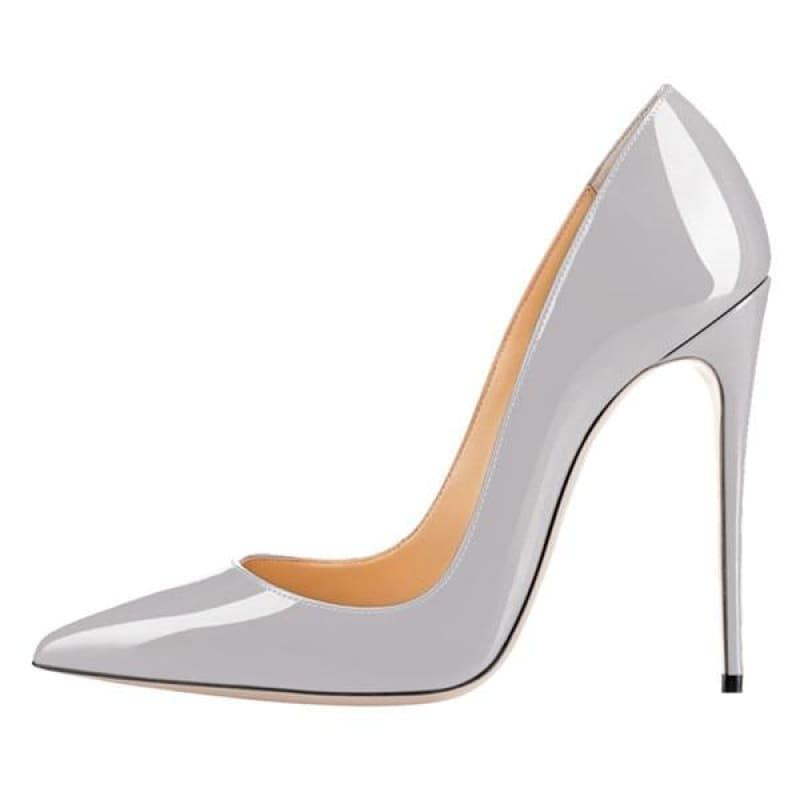 High Heels Woman Slip-on Patent Pumps - AS SHOWN 8 / 42 - Pumps