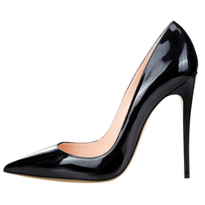 High Heels Woman Slip-on Patent Pumps - AS SHOWN 9 / 42 - Pumps