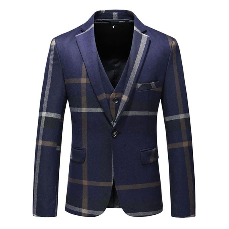 High Quality Dark Blue Grey Blazer Casual Business Jacket - Mens jackets