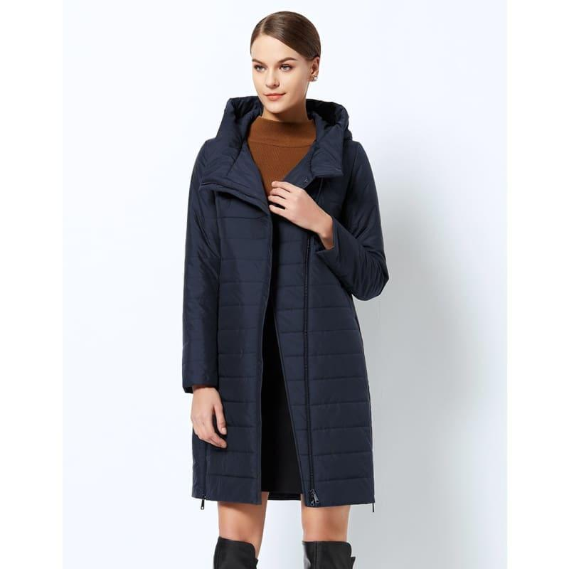 High-quality Thin Cotton Padded Womens Warm Parka Coat - 605 Deep Blue / 4XL - Coats