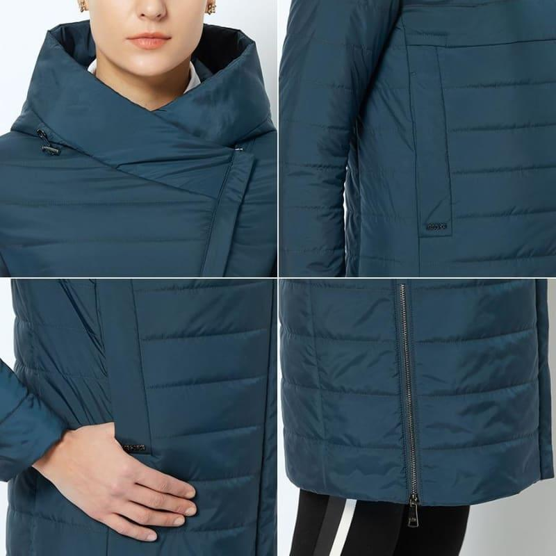 High-quality Thin Cotton Padded Women's Warm Parka Coat - TeresaCollections