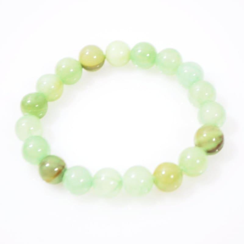 Jungle Green Natural Jade Unisex Mens Bracelets - Handmade