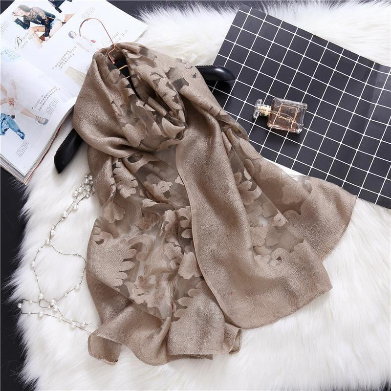 Lace Silk Wrap Scarf - TeresaCollections