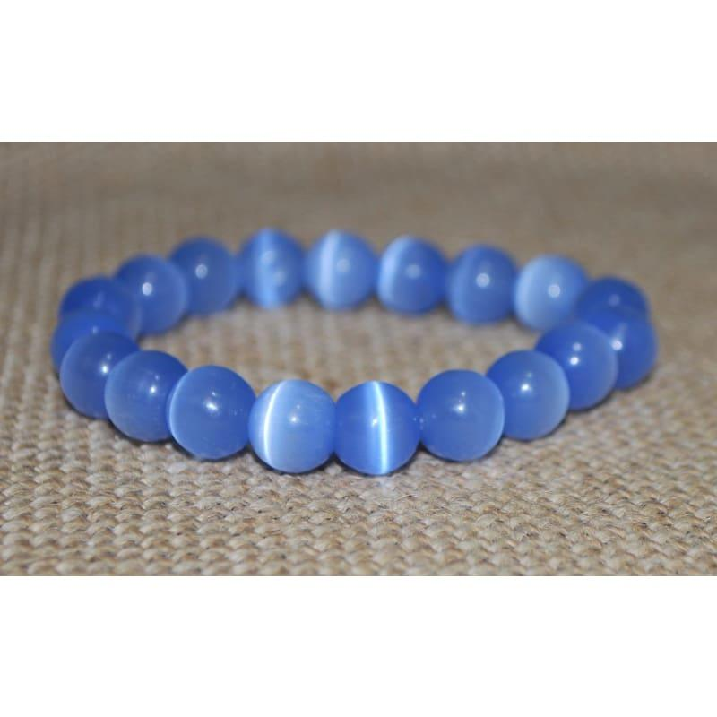 Light Blue Mexican Opal Tiger Eye Gemstone Unisex / Men's Bracelets - TeresaCollections