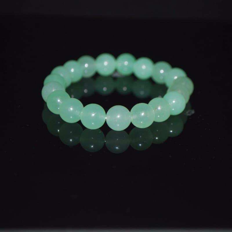 Light Green Carnelian Gemstone Bracelets - Handmade