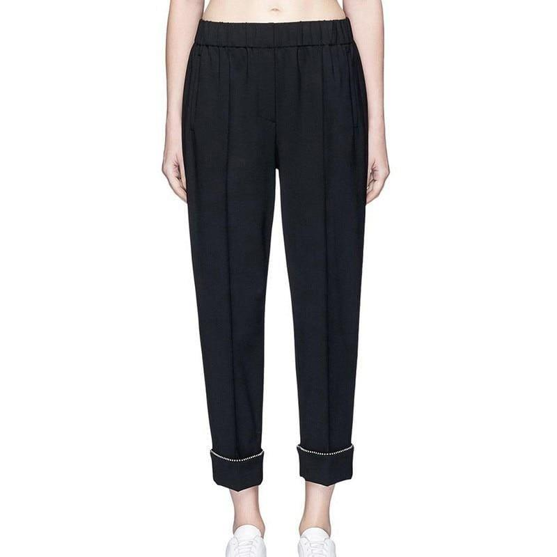 Loose High Waist Ankle Length Trousers - Pants