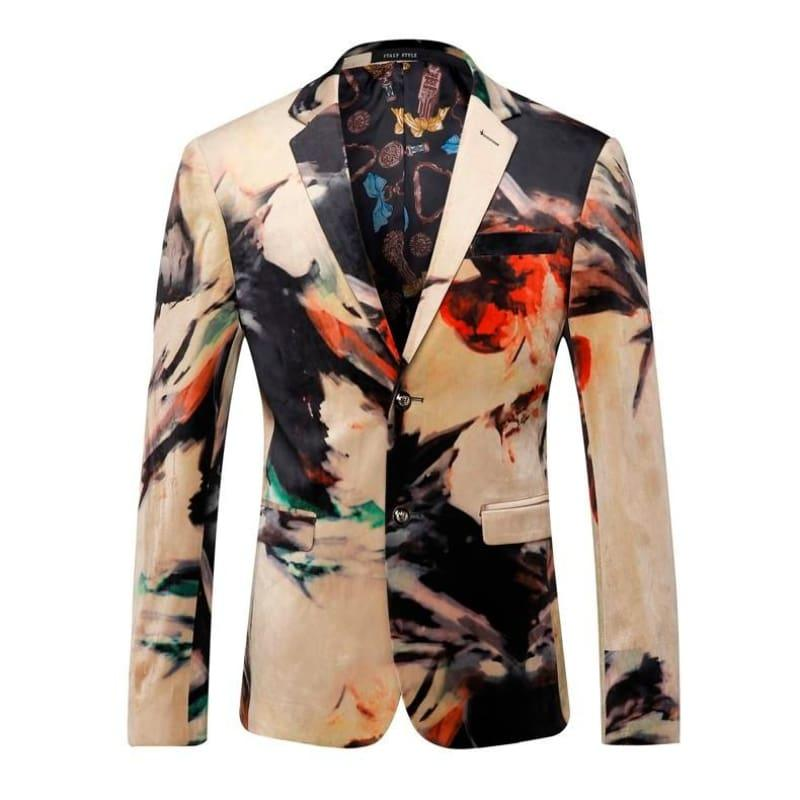 Luxury Designer Colorful Italian Stylish Blazer Jacket - Mens Jackets
