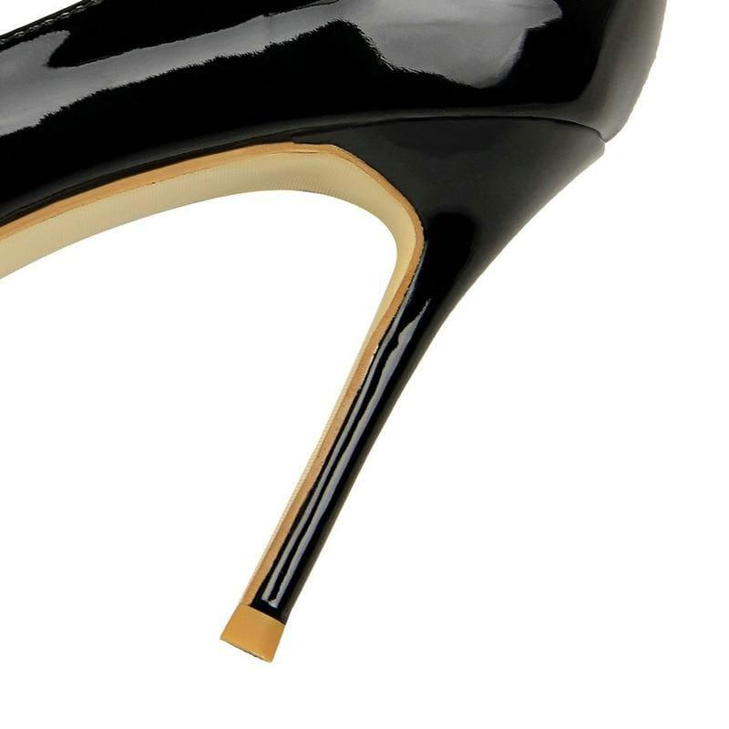 Patent Leather Pointed Toe Pumps Women Super High Heel Pumps - pumps