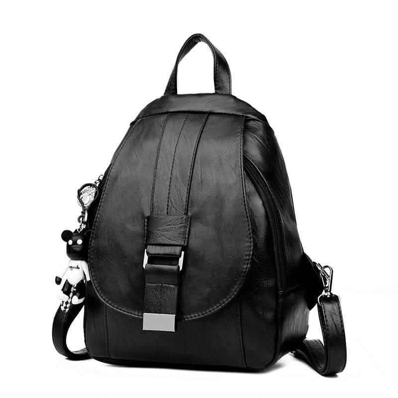 Preppy Style Backpack School Small Shoulder Bag - black / L25cm W23cm Thk10cm - Back pack