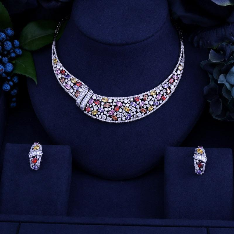 Marquise Flower Butterfly Shape Necklace Earring And Necklace Jewelry Sets
