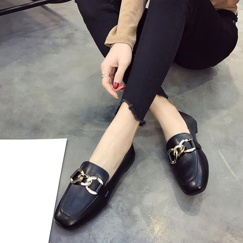 Shallow Mouth Loafers Summer Fashion Sweet Flats - Flats