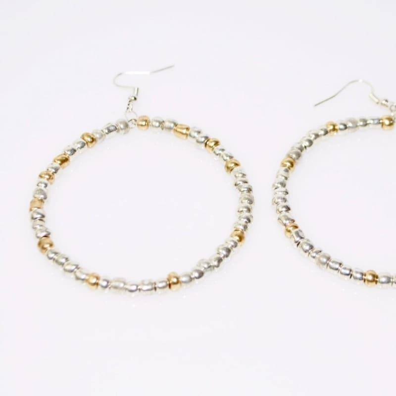 Silver / Gold Silver Sterling Hoop Earrings - Hoop earrings