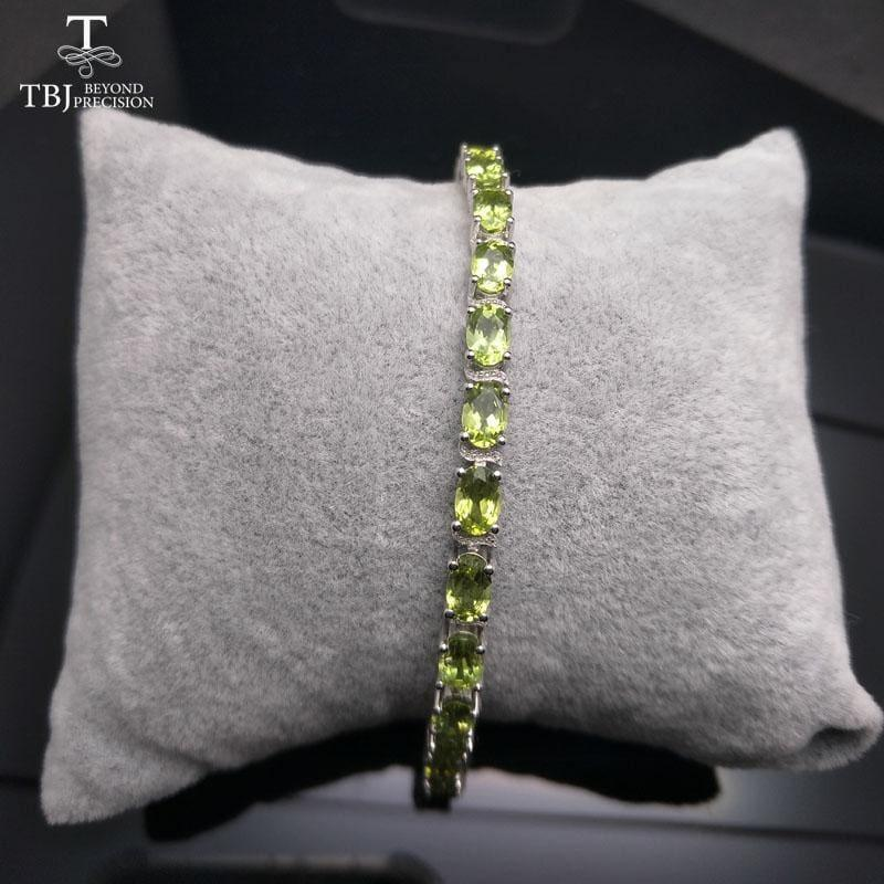 Simple and Classic 12ct Peridot Gemstone Bracelet - bracelets