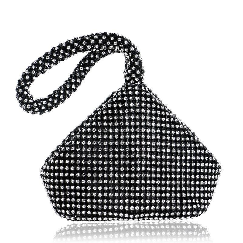 Soft Beaded Evening Clutch Purse Bag - Clutch