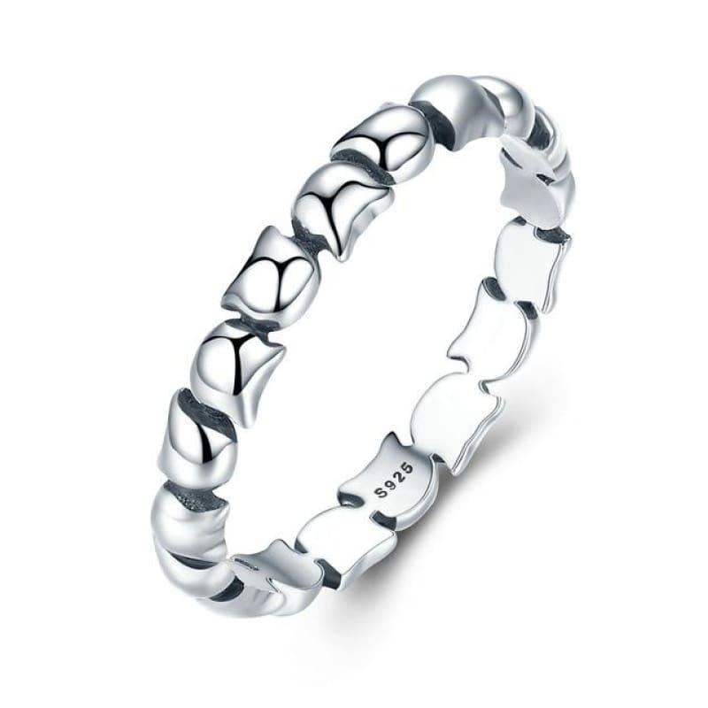 Sterling Silver Stackable Ring - 6 / Fir047 - Ring