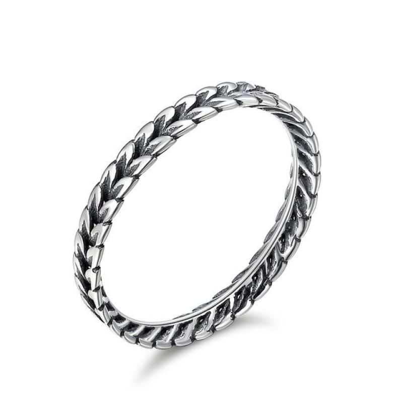 Sterling Silver Stackable Ring - 6 / FIR139 - Ring