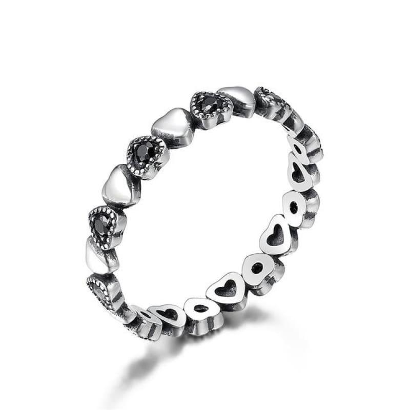 Sterling Silver Stackable Ring - 6 / FIR140 - Ring