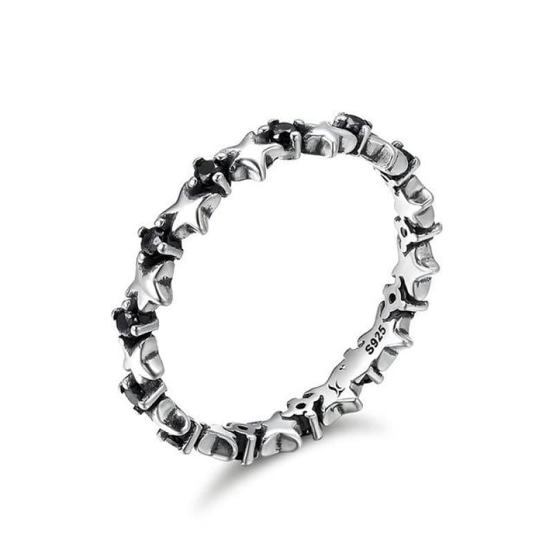 Sterling Silver Stackable Ring - 6 / FIR142 - Ring