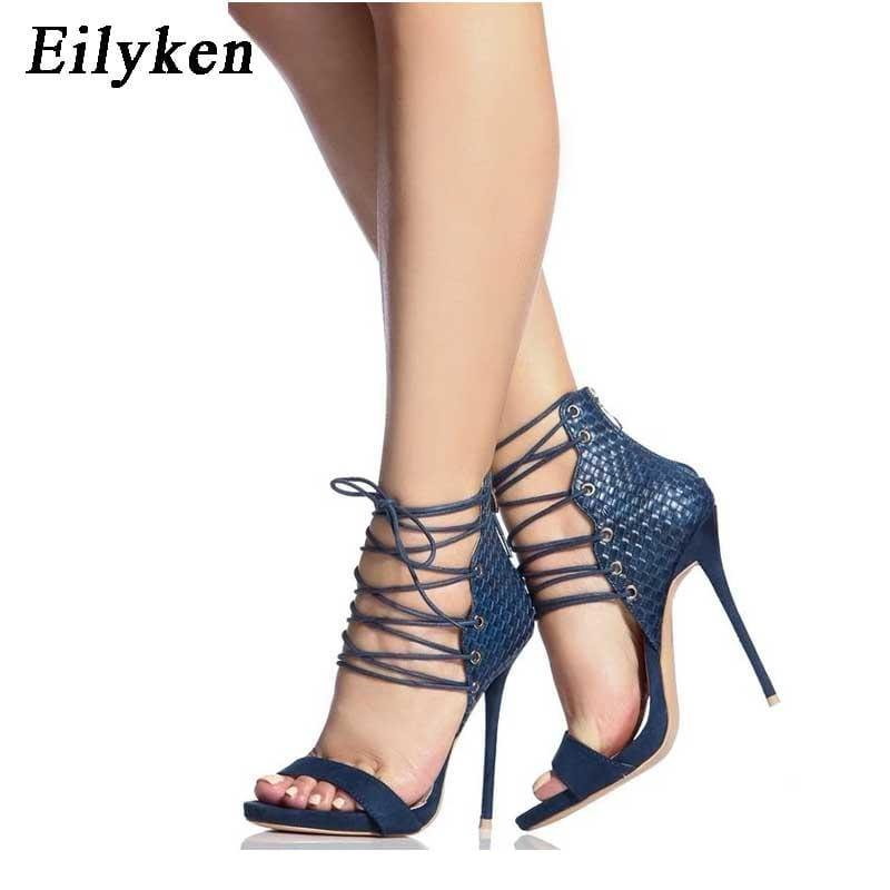 Strappy High Heel Stilettos Gladiator Sandals - Sandals