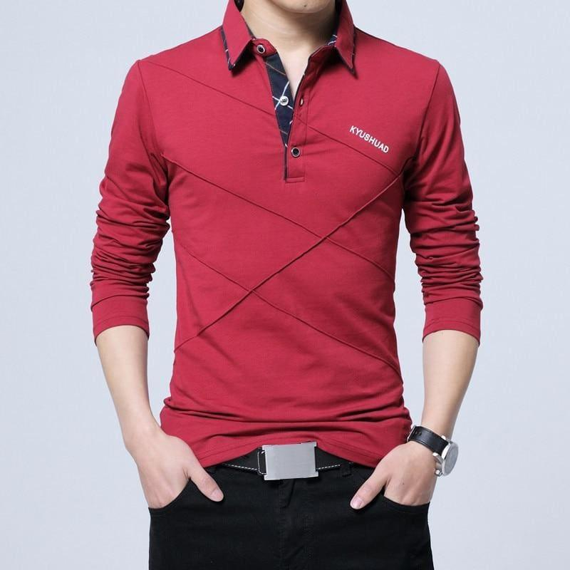 Stripe Designer T-shirt Slim Fit Loose Casual Cotton Mens T-Shirt - Red / Asian Size 4XL - Mens T-shirt